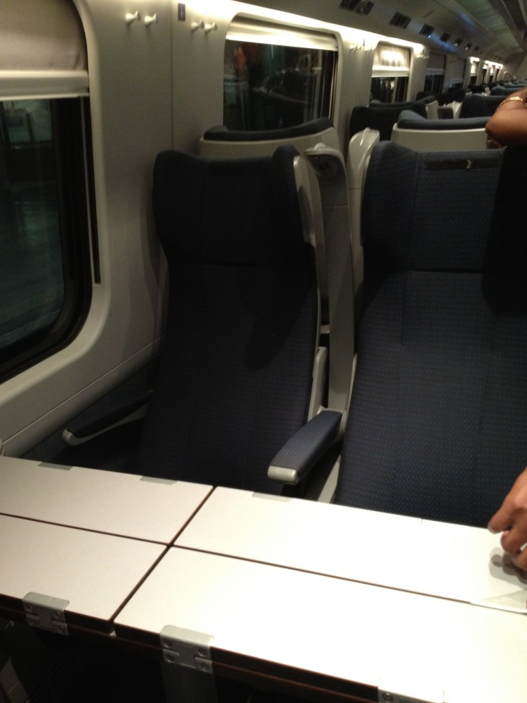 Train from Rome to Florence - Trenitalia - Detailed of Seats