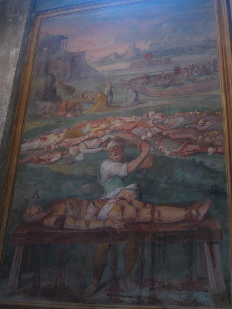 Attraction in Rome - Santo Stefano Rotondo - Gruesome Frescoes