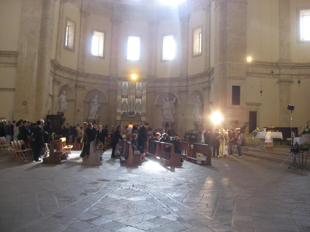 Inside the Tempio di Santa Maria della Consolazione in Todi, Italy