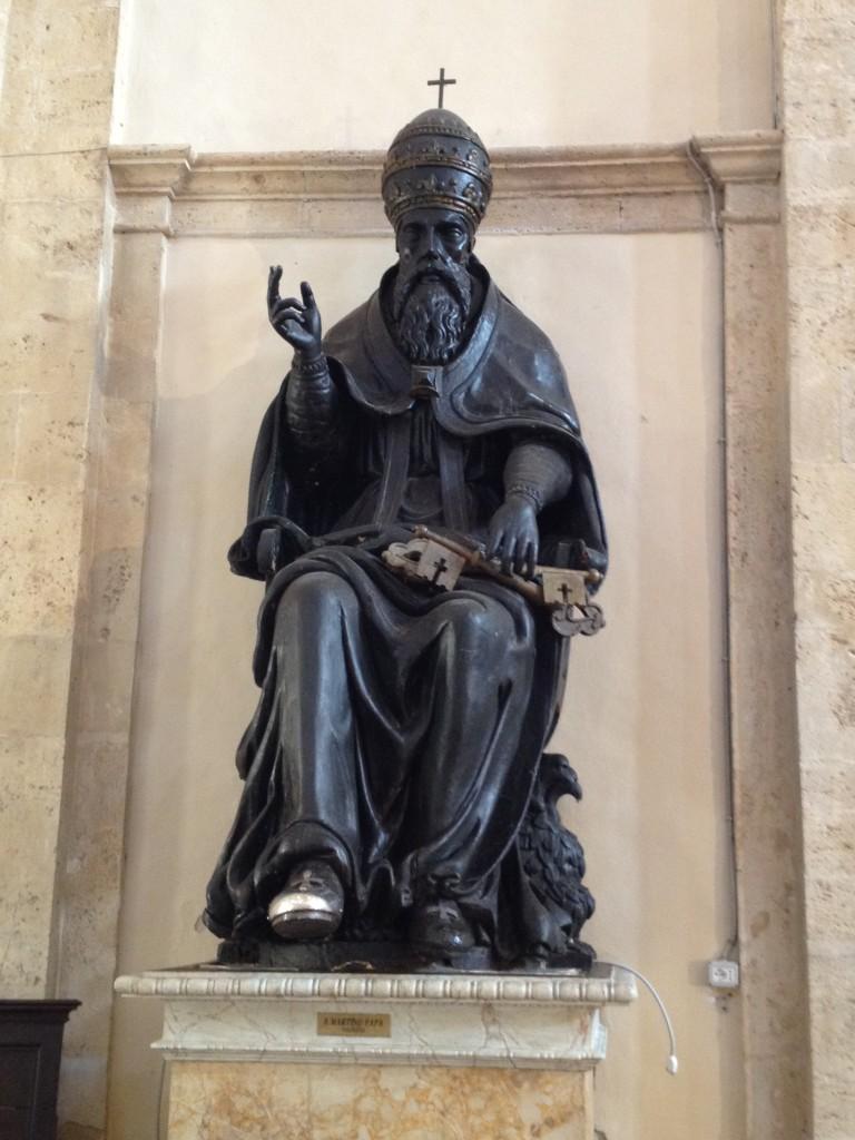 Statue of Pope Martin - Todi, Italy