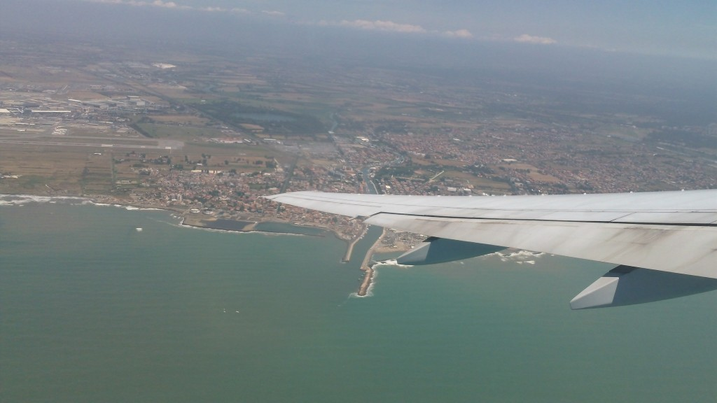 Getting to Rome - View of Fiumicino