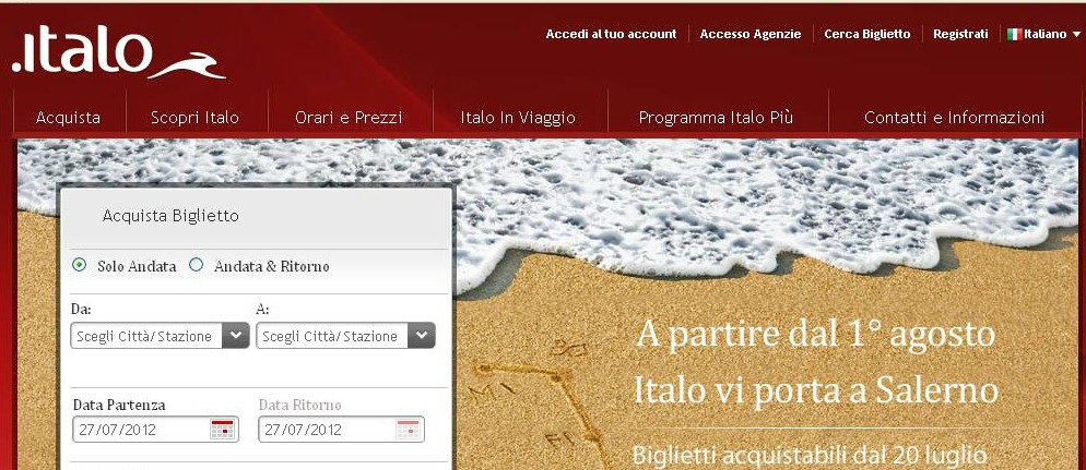 Italo Website