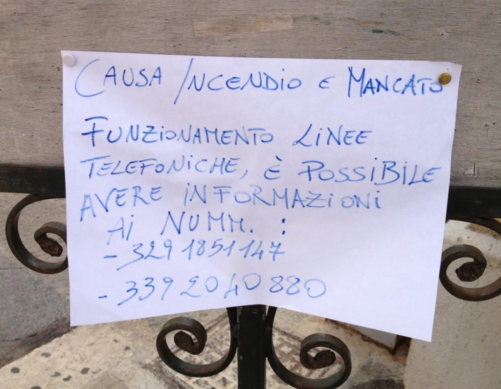 San Vito Lo Capo, Sicily - Wild Fires Notice