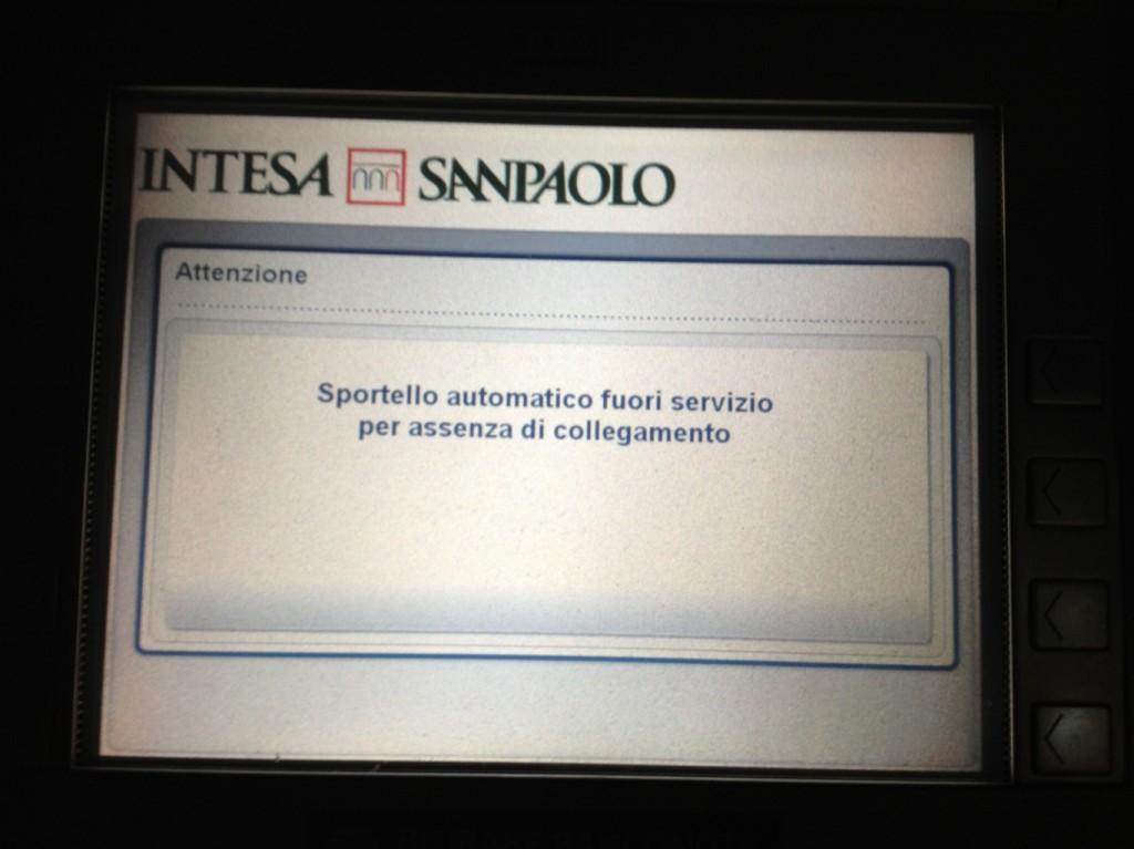 San Vito Lo Capo, Sicily - ATM down