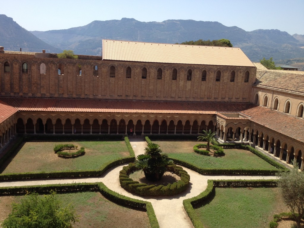 Monreale Sicily - View of Cloister