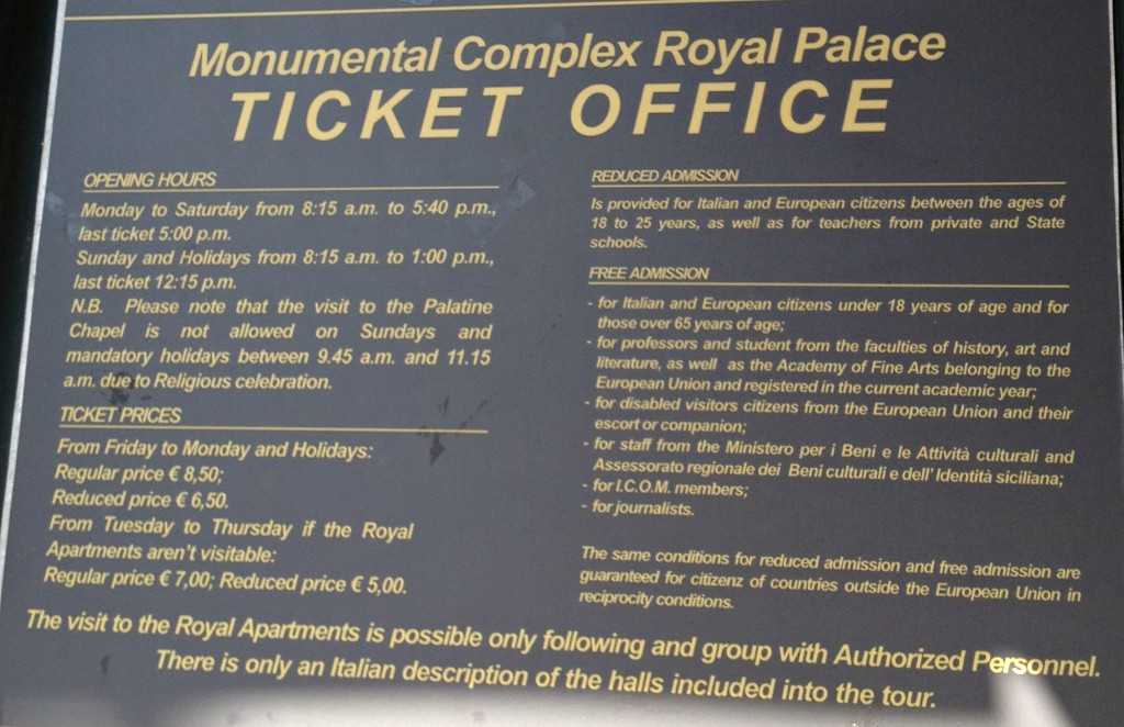 Things to do in Palermo - Palazzo Normanni Ticket Office