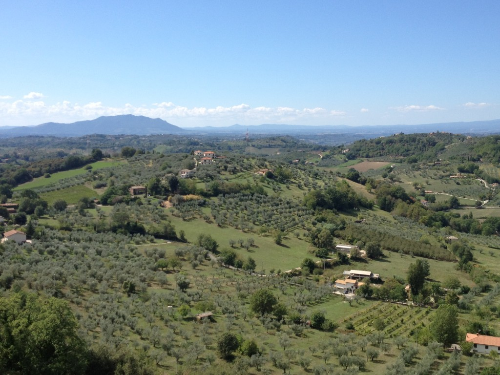 Casperia - Sagra del Tartufo - View of the Lazio Countryside