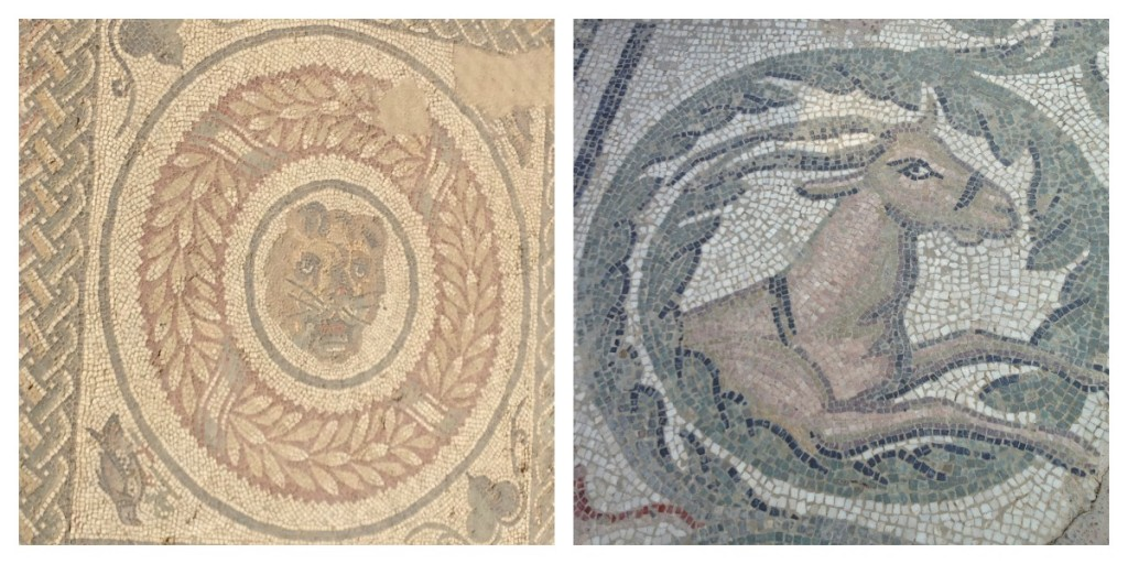 Traveling Sicily - Piazza Armerina - Details of mosaic