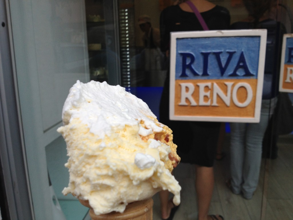 More places to eat in Rome: Riva Reno Gelateria