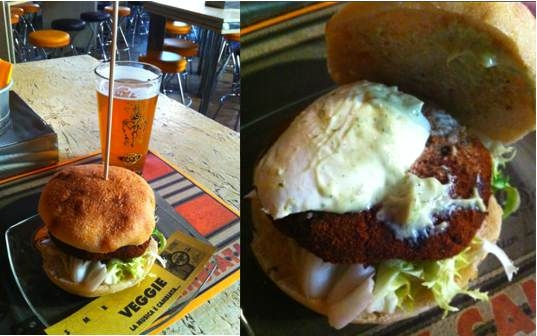 Open Places to Eat in Rome - Open Baladin - Veggie Burger