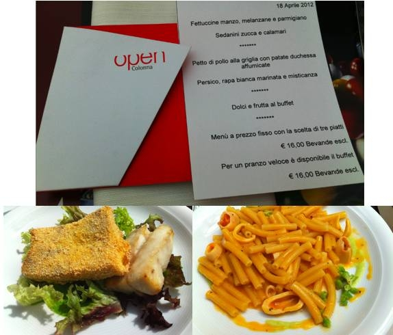 Open Places to Eat in Rome - Open Colonna - Prefix Menu
