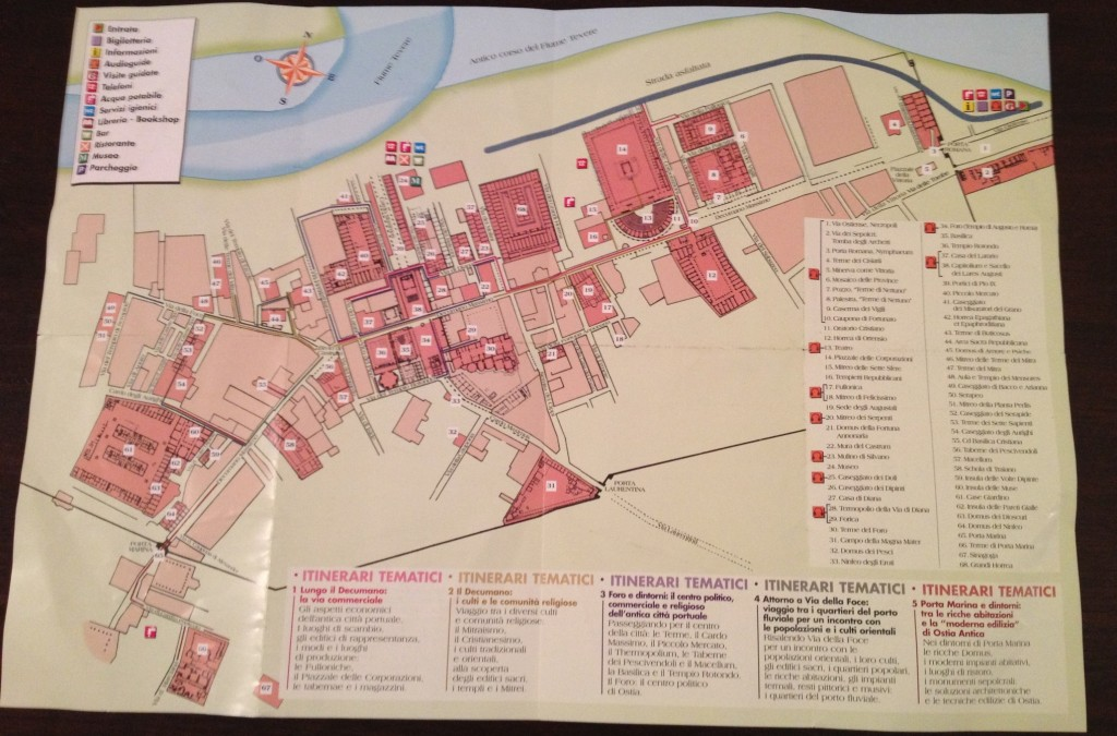 Ostia Antica - Map