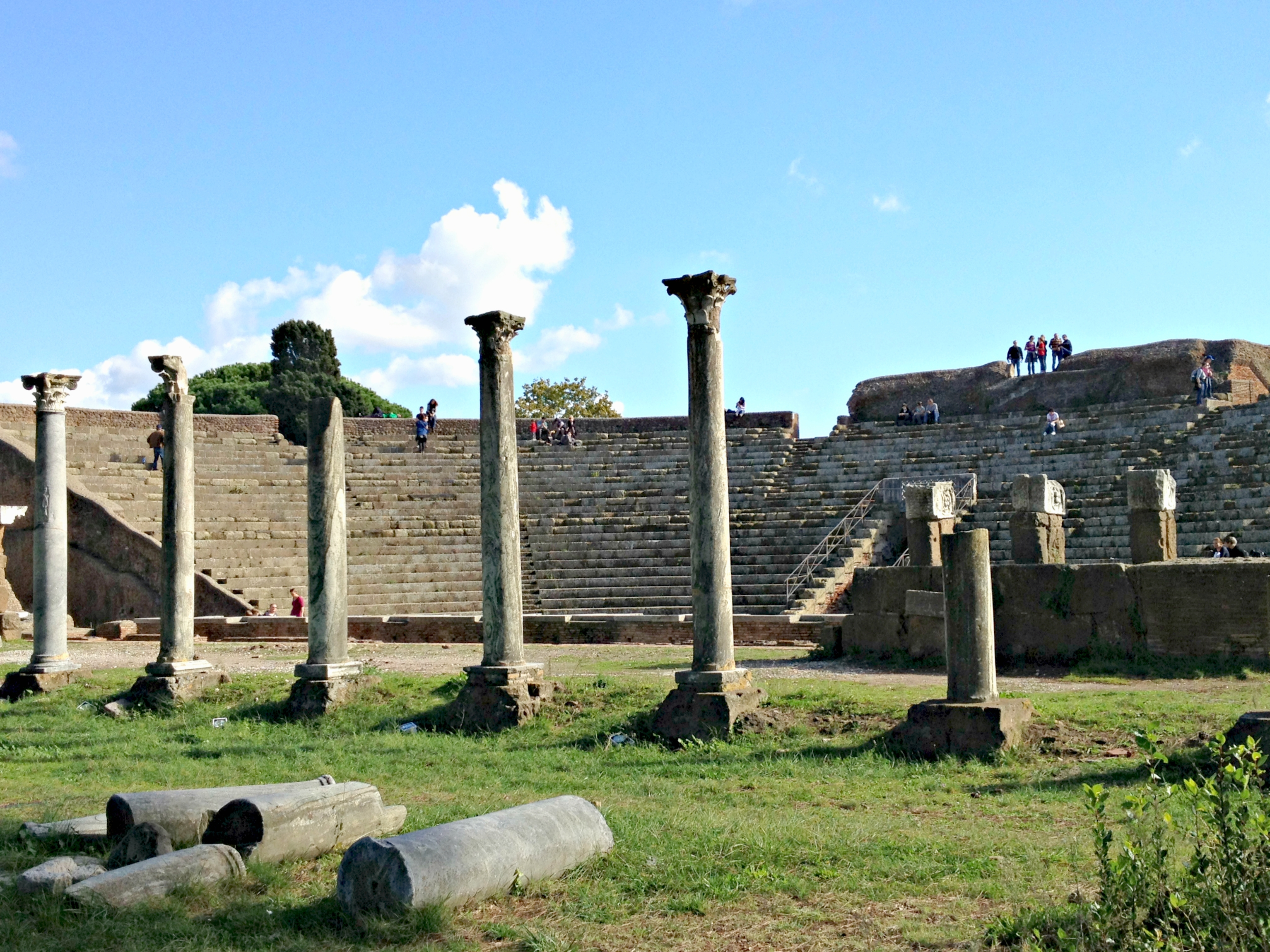 Ruins at Ostia Antica are worth a visit