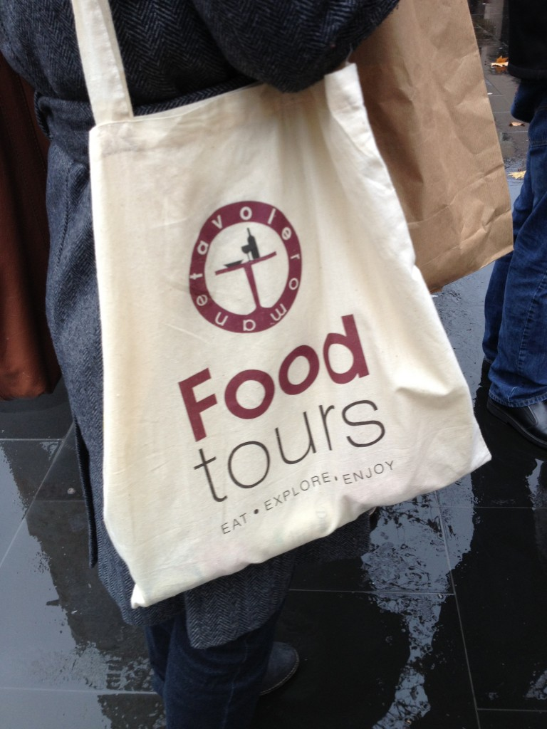 Bag from Tavole Romane Rome Food Tour