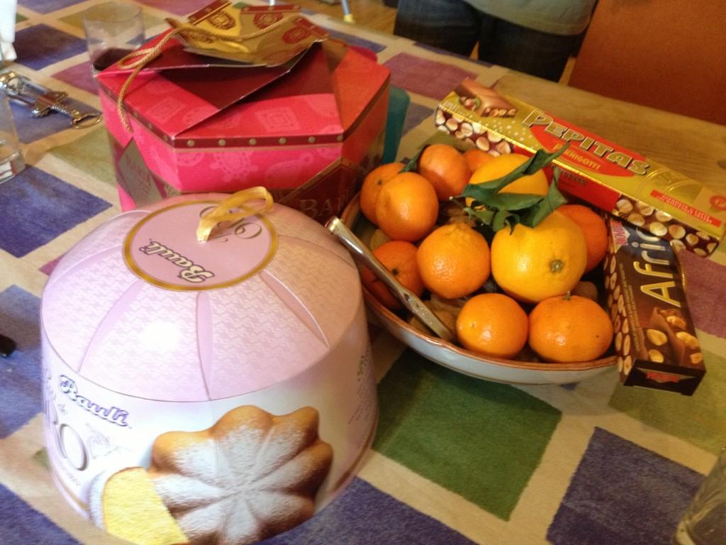 Italian Christmas day sweet treats