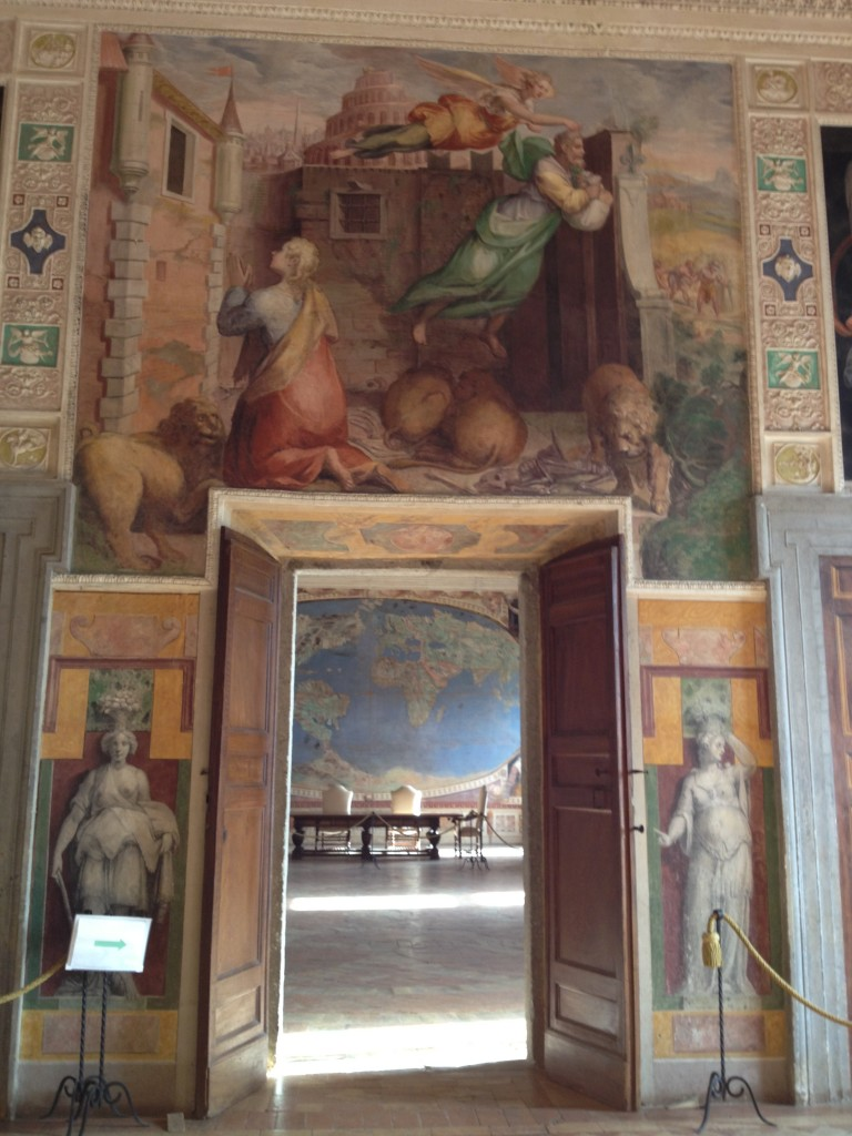 Hidden gems in Lazio - Palazzo Farnese in Caprarola -Sala del Mappamondo