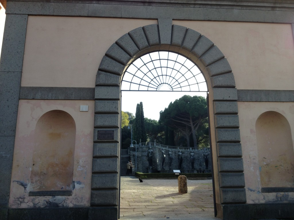 Hidden gems in Lazio - Entrance to Villa Lante in Bagnaia