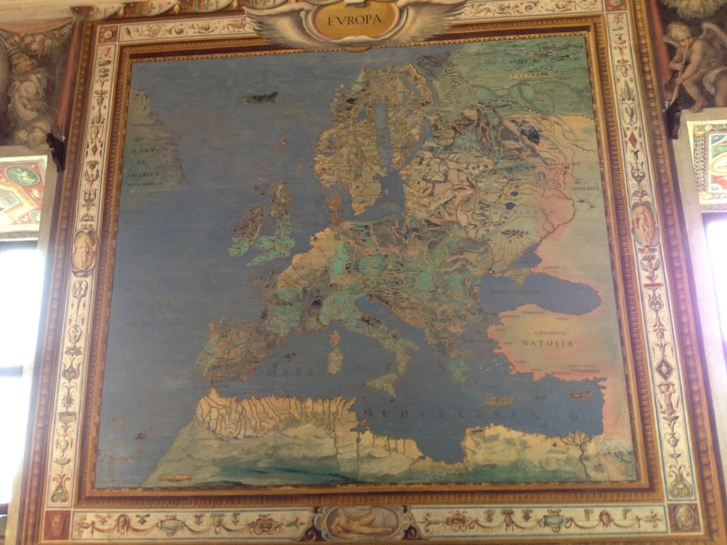 Hidden gems in Lazio - Palazzo Farnese in Caprarola - Map of Europe
