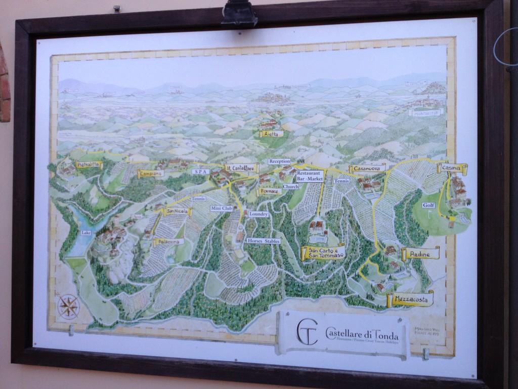 Map of Castellare di Tondo in Tuscany