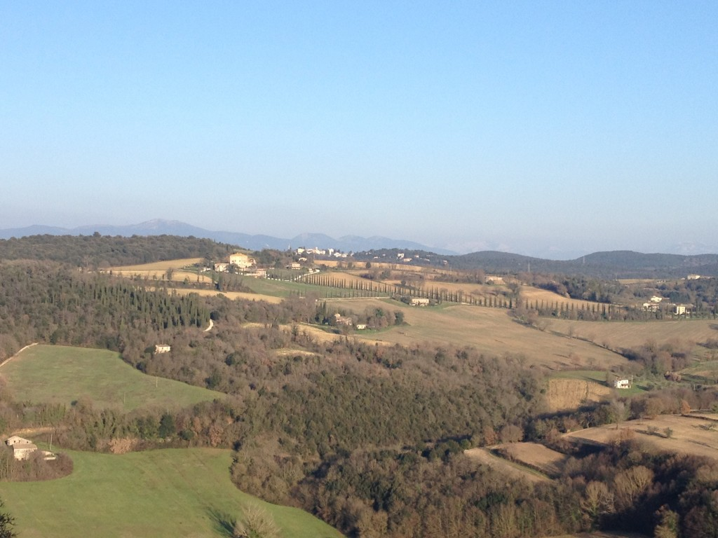 Stunning panoramic views from Amelia, Umbria