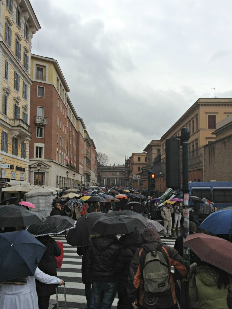 Crowds going to Vatican - Papal Conclave at the Vatican