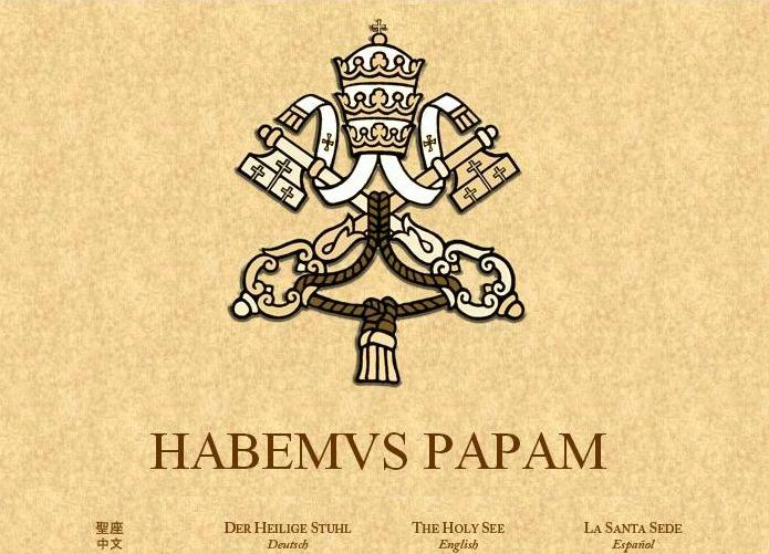 Habemus papam - Vatican website