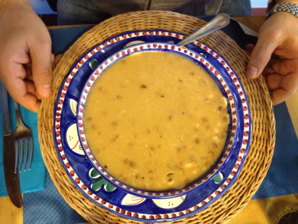 Civita di Bagnoregio - Lunch - Zuppa di Farro