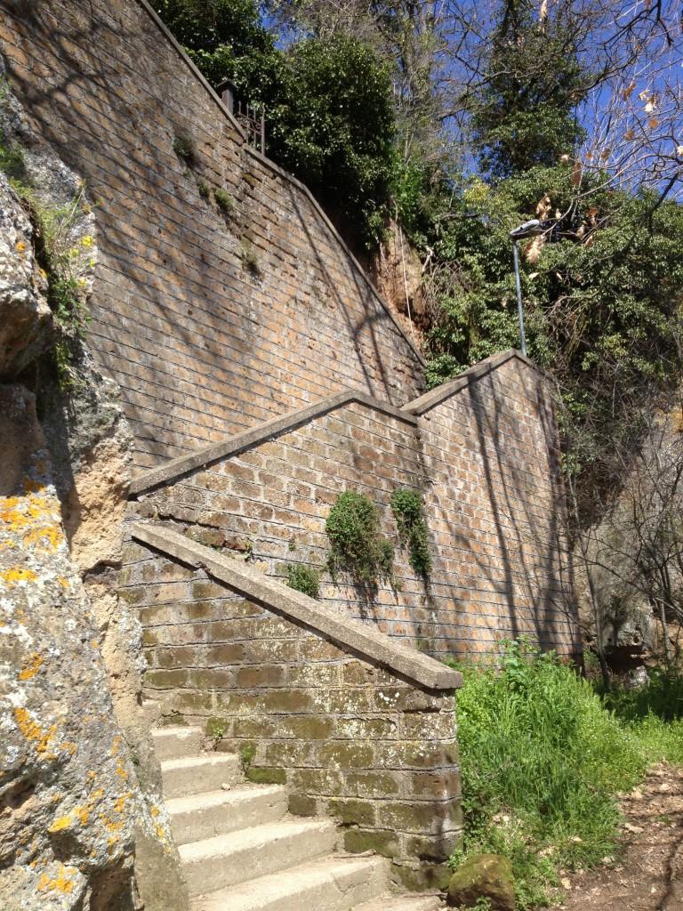 Civita di Bagnoregio stairs
