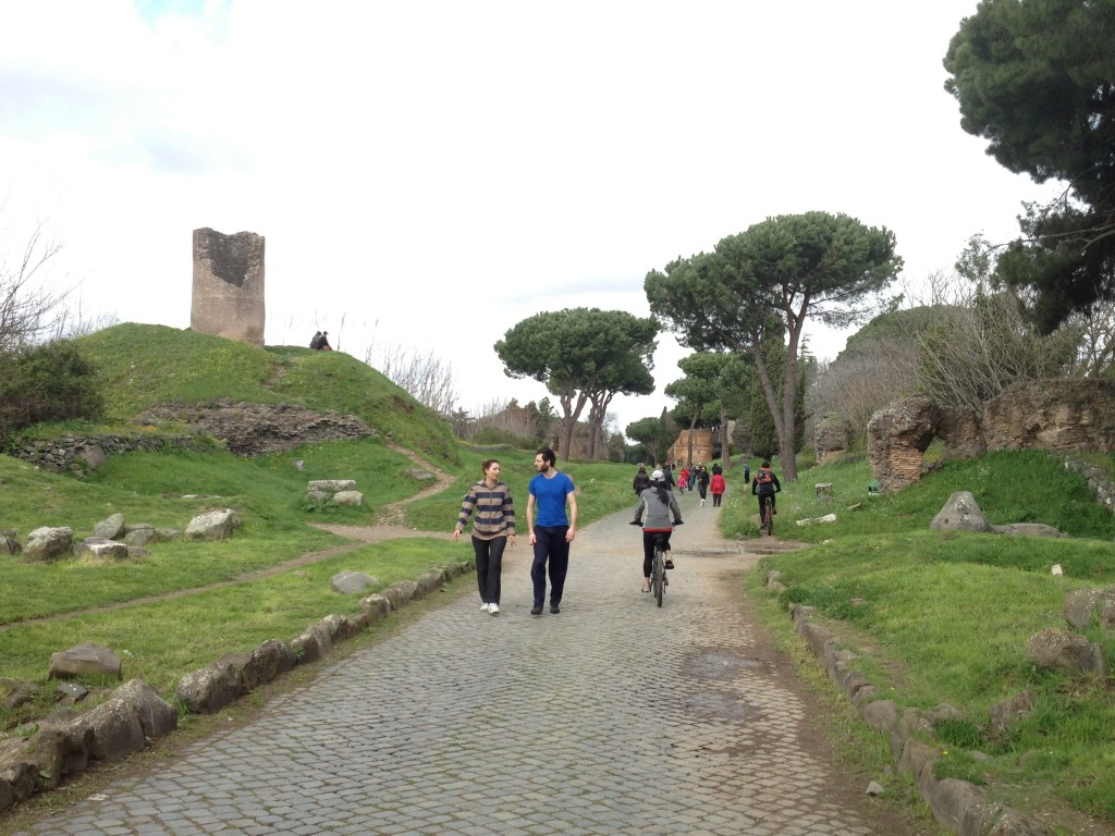 Appian Way in Rome - Walking or biking is possible
