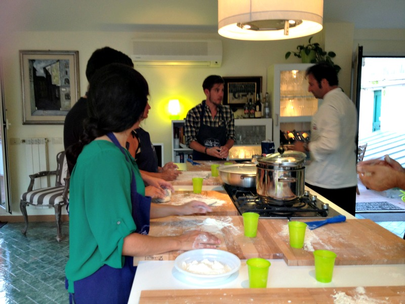Getting the hands dirty at the pasta making class in Rome