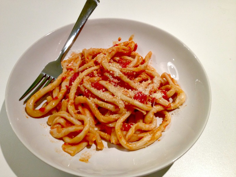 Pici all'amatriciana - Pasta making class in Rome