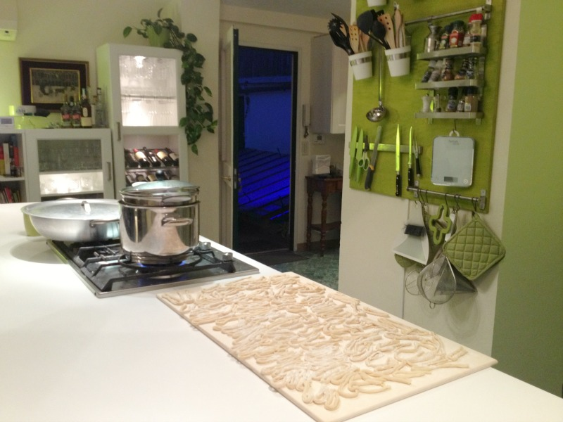 Pici made and ready to be cooked - Pasta making class in Rome