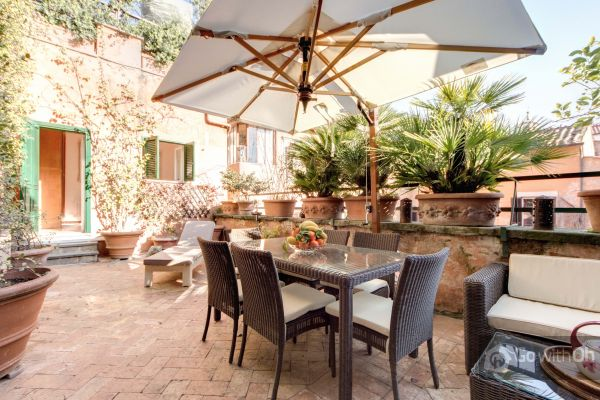 Terrace Of An Apartment Rental Near Pantheon, Rome By GowithOh