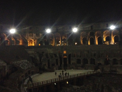 View of the Arena floor | Cool experience in Rome: Colosseum at Night | BrowsingRome.com