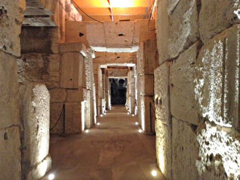 Colosseum Underground Passage | Cool experience in Rome: Colosseum at Night | BrowsingRome.com