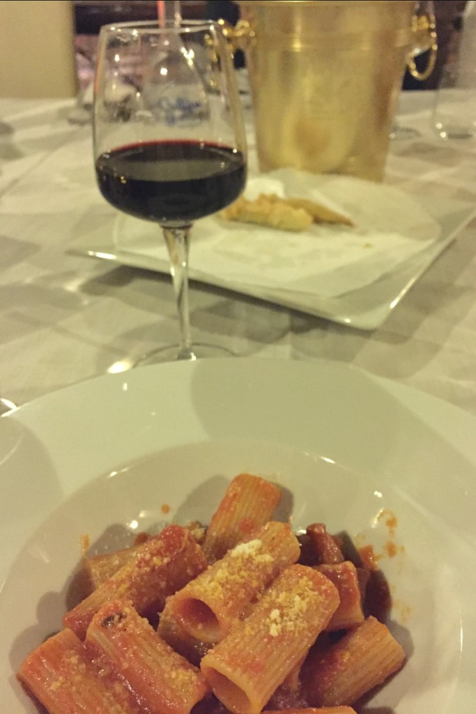 Guided Wine Pairing Dinner in Rome: Amatriciana with Montepulciano d'Abruzzo | BrowsingRome.com