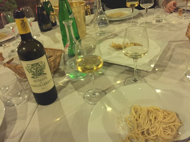 Guided Wine Pairing Dinner in Rome: Cacio e pepe | BrowsingRome.com