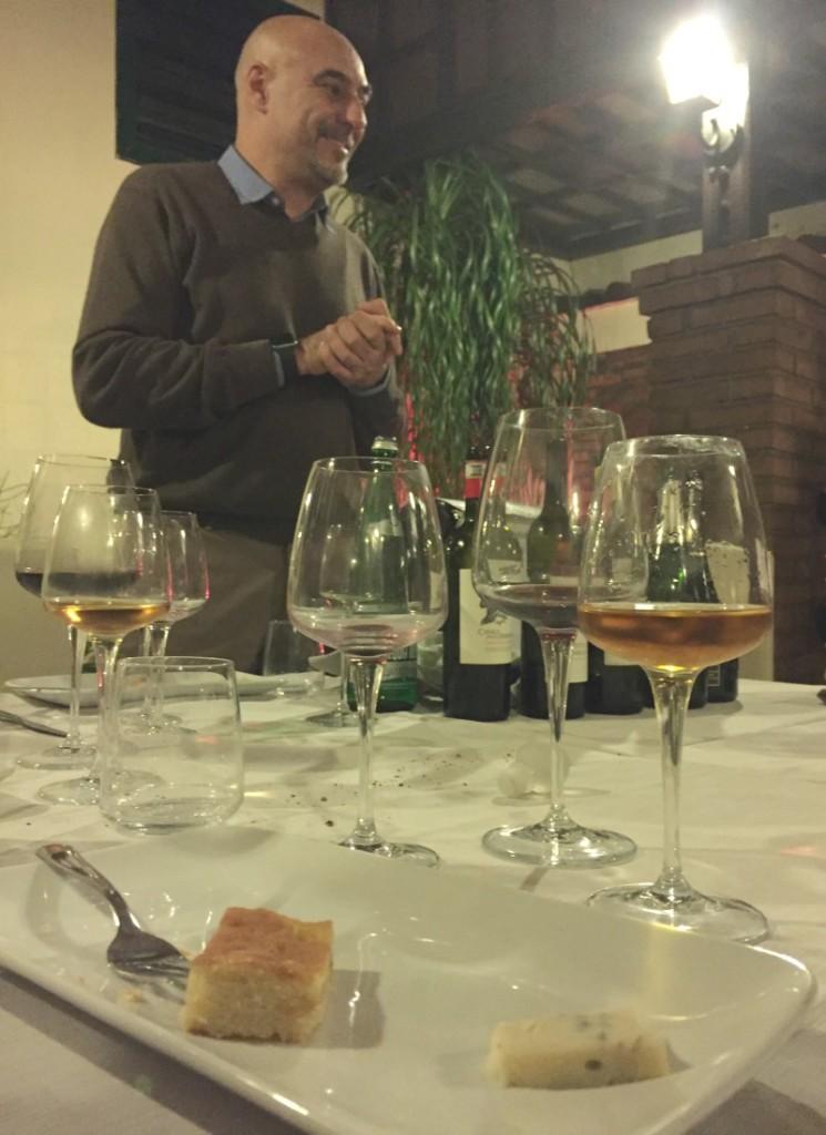 Guided Wine Pairing Dinner in Rome: Dessert wine