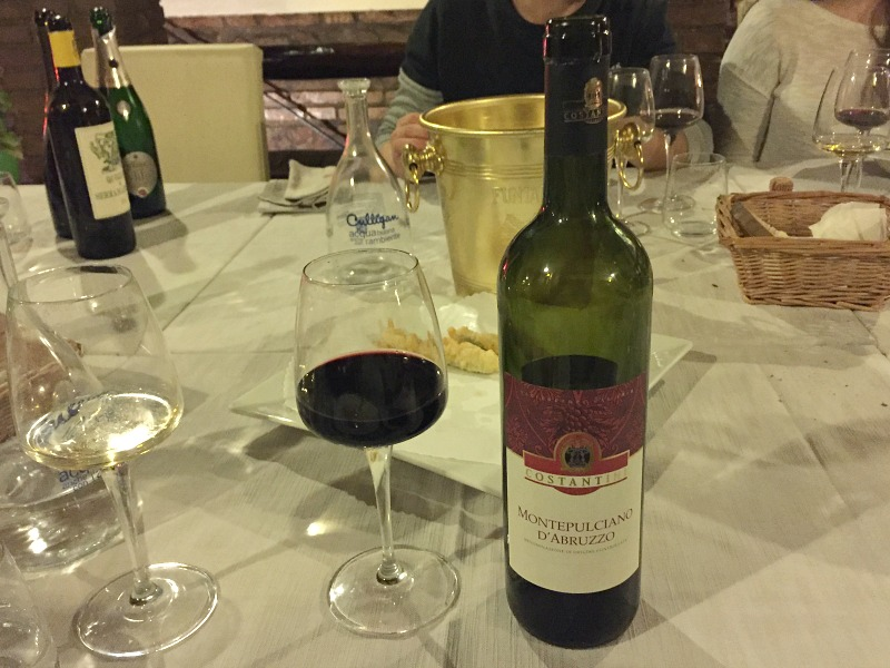 Guided Wine Pairing Dinner in Rome: Montepulciano d'Abruzzo wine | BrowsingRome.com