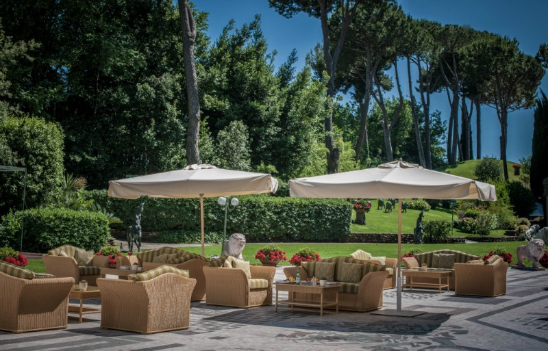 Tiepolo terrace at Rome Cavalieri | BrowsingRome.com