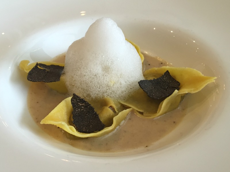 Cappellacci pasta filled with truffles and porcini at L'Uliveto restaurant at Rome Cavalieri | BrowsingRome.com