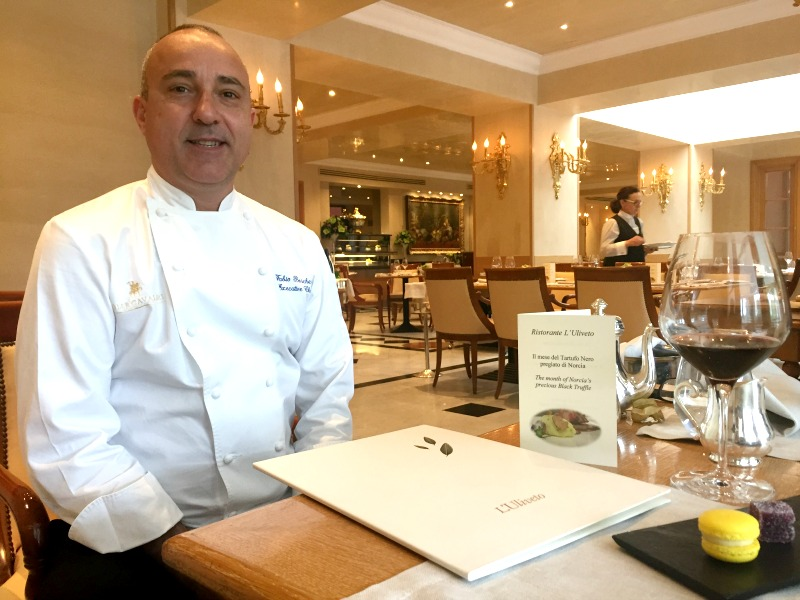 Fabio Boschero: Executive chef at L'Uliveto restaurant in Rome Cavalieri | BrowsingRome.com