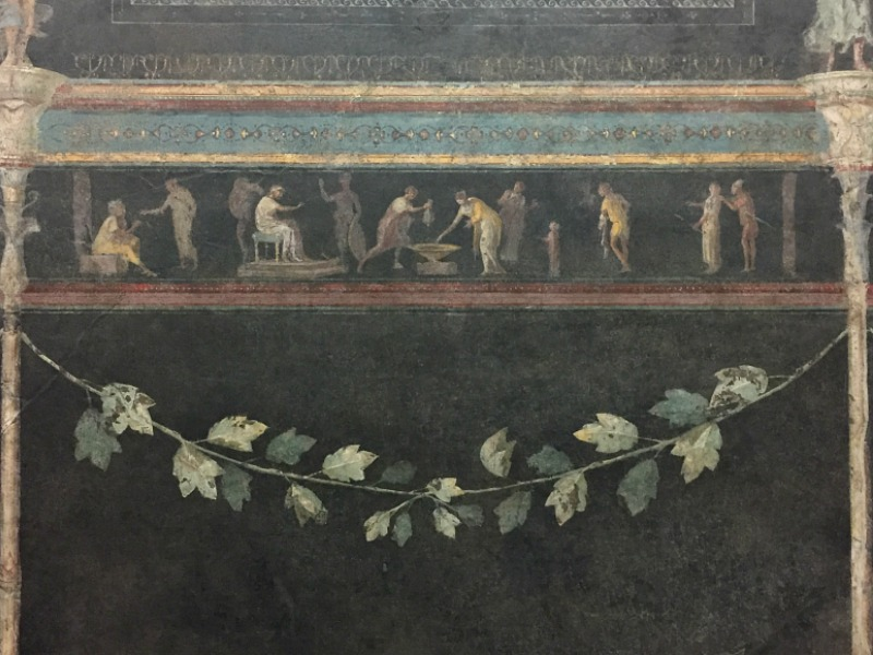 Frescoes in a winter dining room | Palazzo Massimo alle Terme, Rome, Italy | BrowsingRome.com