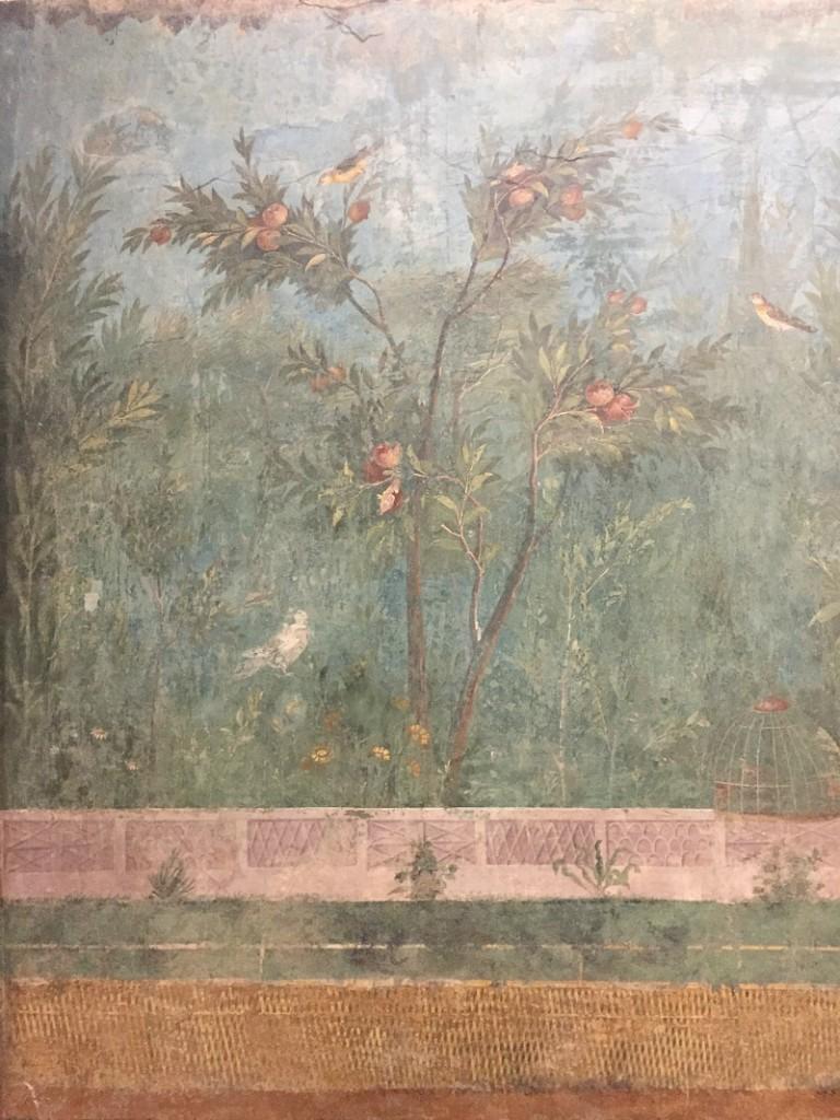 Frescoes in Villa di Livia at Palazzo Massimo alle Terme | BrowsingRome.com
