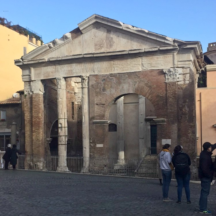Winter in Rome: Sunday Food Tour with Eating Italy | Portico d'Ottavia | BrowsingRome.com
