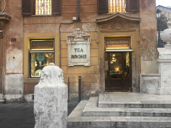 Elegant Tea Room in Rome steeped in history